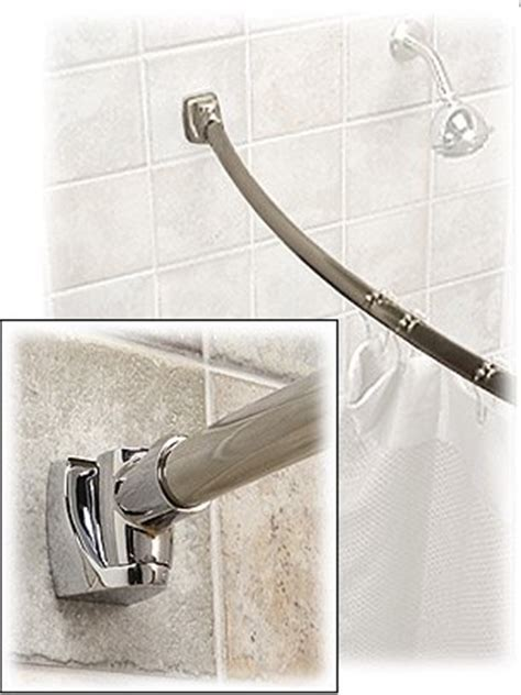 5 ft. Curved Shower Rod   Polished Stainless Steel   Buy
