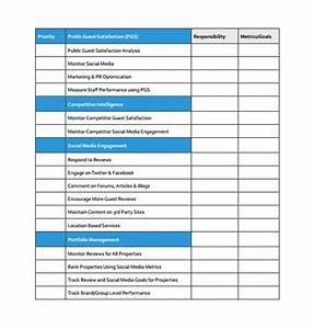 13  Sample Social Media Plan Template