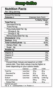 pure natural ground hemp coffee beans With coffee nutrition label