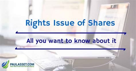 rights issue  shares