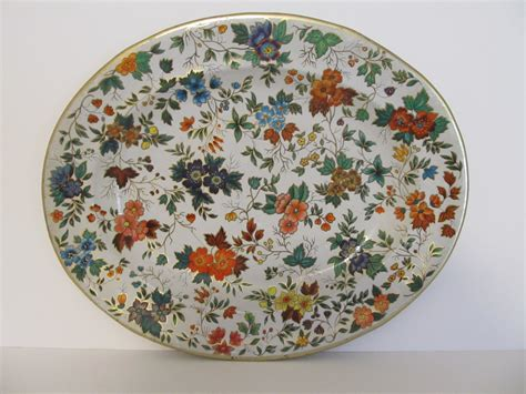 daher decorated ware tin tray daher decorated ware tray made in vintage tray