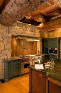 rustic bark log kitchen cabin kitchen bar pinterest