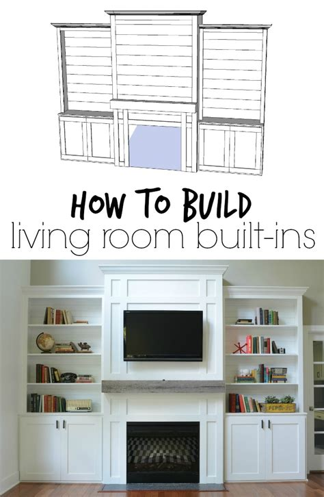 build your own bookshelves living room built ins quot tutorial quot cost decor and the