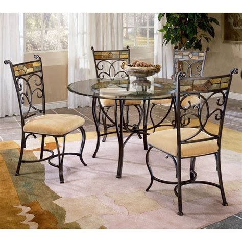 pompei glass dining table with slate accented chairs dcg