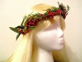 bridal garland flower crown wreath christmas by myfairyjewelry