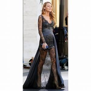Blake Lively (Serena) Grey Beaded Lace Prom Dress Gossip Girl