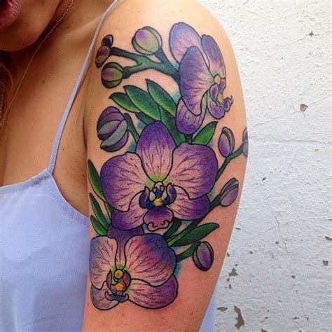 blue orchid tattoos pictures  designs