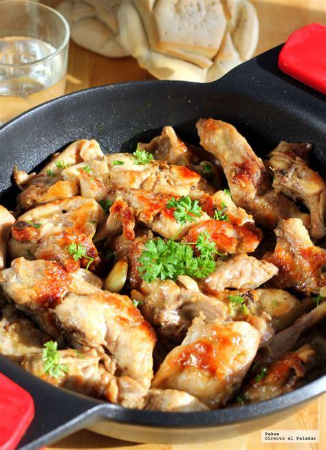 conejo al ajillo receta de cocina tradicional facil