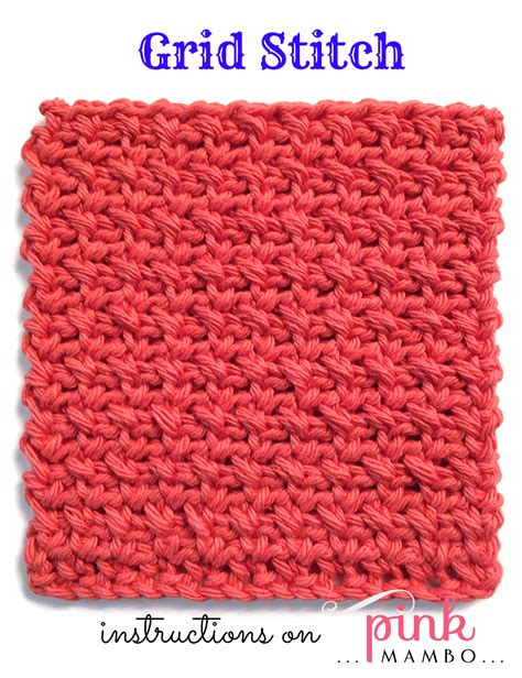 crochet stitch patterns crochet grid stitch pattern pink mambo