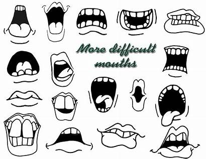 Cartoon Mouths Drawing Faces Draw Eyes Drawings