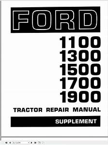 New Holland Ford 1100 1200 1300 1500 1700 1900 Tractor