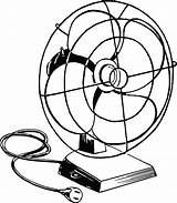 Fan Clipart Drawing Electric Fans Desk Air Clip Blowing Transparent Svg Coloring 1882 Cooling Line Blower Hand Cliparts Graphic Retro sketch template