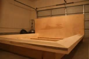 diy platform king size bed frame vintage woodworking projects
