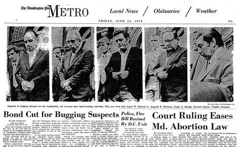 watergate scandal break june burglars woodward history 1972 years fbi were washington summary bob arrested forty later whores today articles