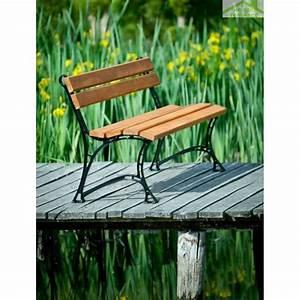 Banc De Jardin Bois : banc de jardin en bois couleur teck et aluminium 150cm ~ Dode.kayakingforconservation.com Idées de Décoration