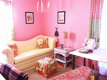 Pink Sewing Pretty Rooms Feature Paint Colors