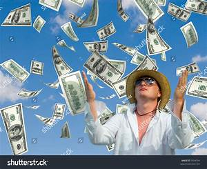 Money Falling Sky Background Stock Photo 5604394 ...