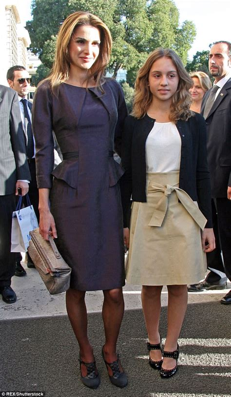 Princess Iman Of Jordan Rivals Queen Rania In The Style Stakes Daily Mail Online