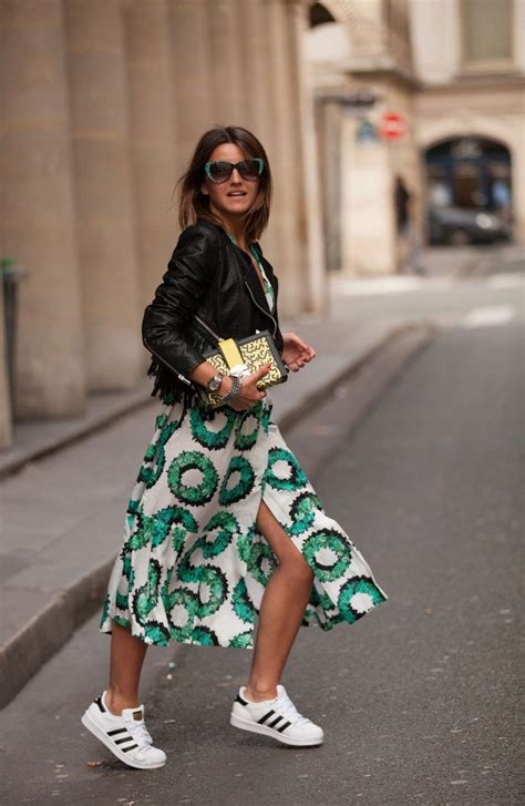 trendy outfit ideas  dress  sneakers