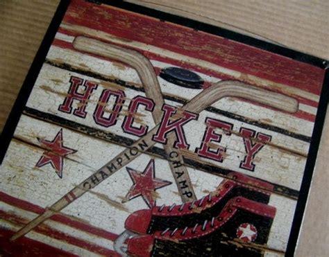 diy hockey ideas images  pinterest child room