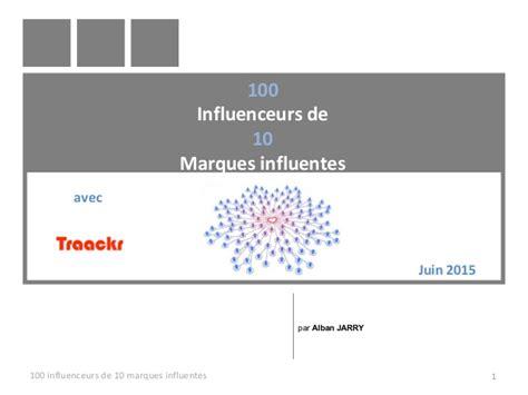 100 influenceurs des 10 marques influentes sur le web