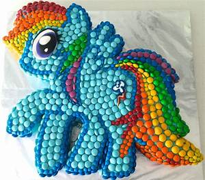 howtocookthat cakes dessert chocolate my little With rainbow dash cake template