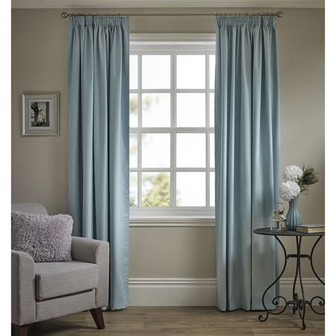 wilko pencil pleat thermal blackout curtains duck egg 117