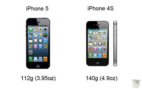 iphone 4s weight iphone 5 vs iphone 4s how the specs compare