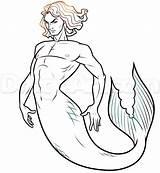 Merman Draw Step Drawing Drawings Dragoart Mermaid Tutorial Coloring Sketches Mermaids Cartoon Steps Gay Getdrawings sketch template
