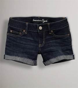 American Eagle Denim Trouser Midi Short, Medium Vintage