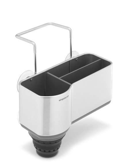 simplehuman sink caddy suction cups simplehuman steel sink caddy williams sonoma