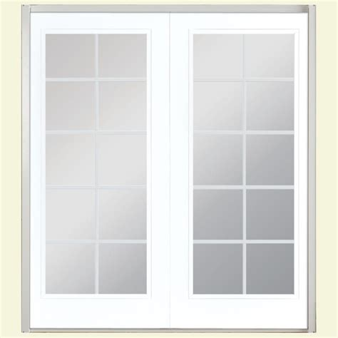 masonite patio doors home depot masonite 60 in x 80 in ultra white prehung right