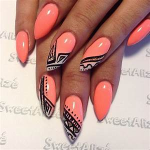 10 Pointy Nail and Stiletto Nail Ideas