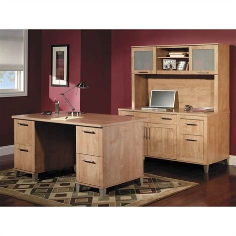 Bush Somerset Maple Desk by Bush Somerset Collection 60 Quot Wood Desk In Maple Cross