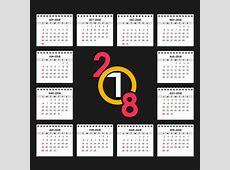 2018 calendar Vector Free Download