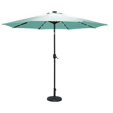 umbrella with solar lights torbay teal umbrella 2 7m with solar lights buy