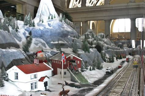christmas model train displays  washington dc