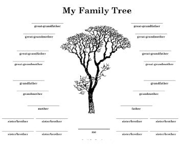 Family Tree Templates With Siblings by Family Tree With Many Siblings Template