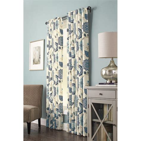 home decorators collection semi opaque indigo floral