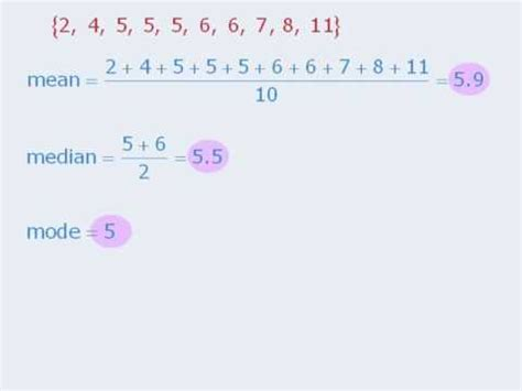 1 Gre Lesson Mean Median Mode Youtube