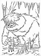 Abominable Snowman Coloring Goosebumps Reindeer Drawing Rudolph Rednosed Paintingvalley sketch template