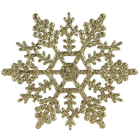 Northlight Gold Glamour Glitter Snowflake Christmas