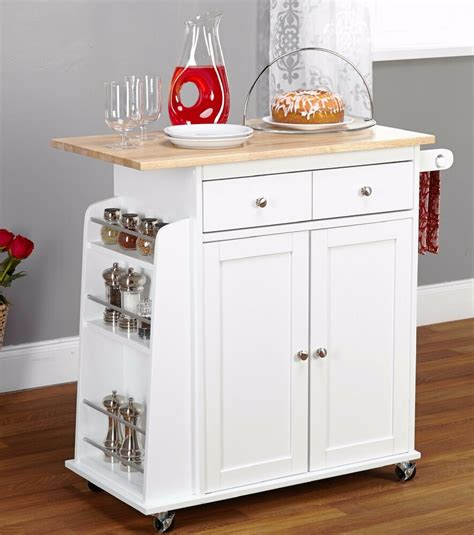 kitchen island table on wheels kitchen island cart white table counter storage cabinet
