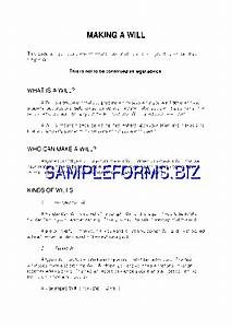 ontario last will and testament form doc pdf free 3 pages With last will and testament template ontario