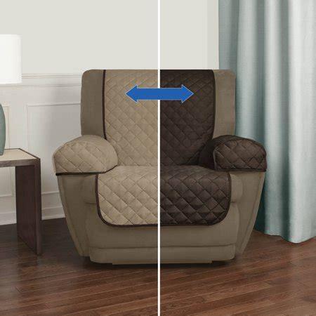 recliner chair cover mainstays reversible microfiber fabric pet furniture