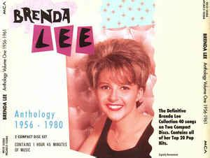 brenda lee anthology brenda lee anthology 1956 1980 cd compilation discogs