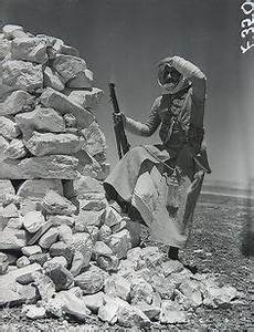 Bedouin soldiers of the Englishled Arab Legion line up in