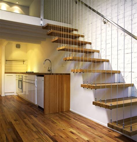 ideas for room dividers in studio apartment suspended staircase modern staircase york by