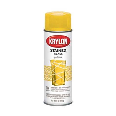 buy the krylon k09024 stained glass spray yellow at hardware world