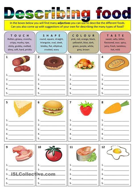 describing food adjectives onlinescubadivingtraining